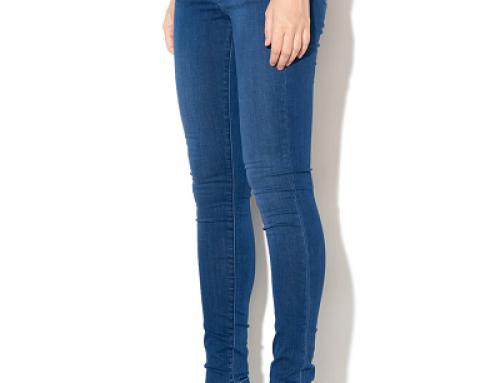 Blugi super Skinny de damă Pepe Jeans London Sadie albaștri cu talie medie