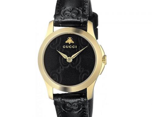 Ceas de damă Gucci G-Timeless YA126581, 5 ATM, Quartz, brățară din piele