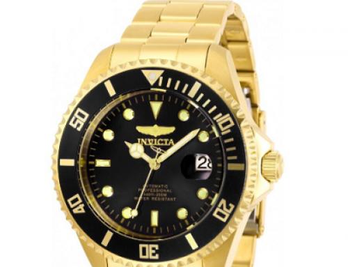 Ceas pentru bărbați Invicta Pro Diver 28948 Automatic, 20 ATM, Auriu