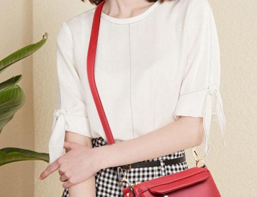 Geantă de umăr de damă Hazel Luna roșie casual cu buzunare interioare