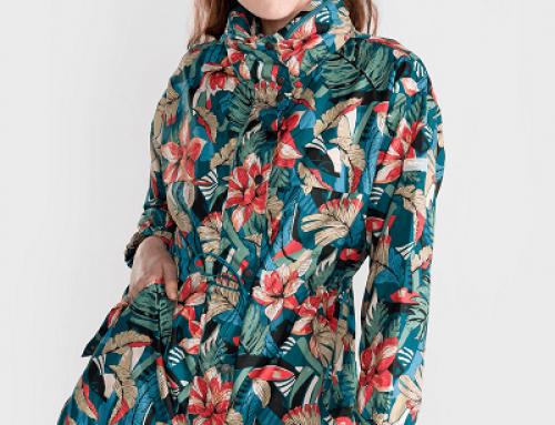 Jachetă damă Pepe Jeans KHYBW Kylie cu imprimeu multicolor dreaptă