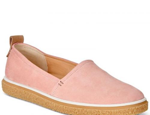 Pantofi casual de damă Wendy Ecco Crepetray  roz cu talpă plată, piele nubuc