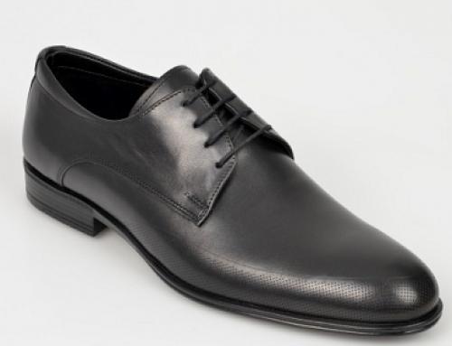 Pantofi eleganți OTTER Greyson VSWLQ, bărbați, din piele naturală, negri