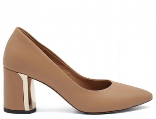 Pantofi damă office Sarah HJMW Brielle cu toc gros și vârf ascuțit, piele naturală