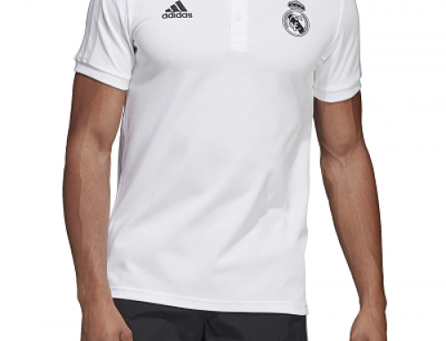 Tricou bărbați Adidas Performance Real Madrid Santiago din bumbac alb, slim fit