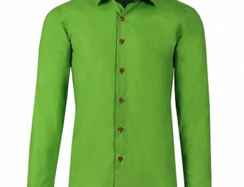 Cămașă Declan VRJYE Evidence pentru bărbați, verde, din bumbac