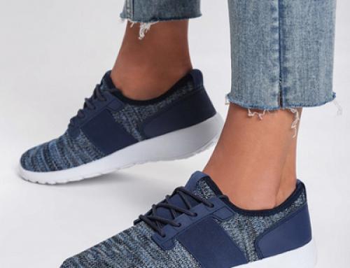 Pantofi sport Harlow Loiter de damă albaștri din material textil