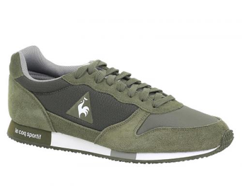 Pantofi sport bărbați Le Coq Sportif Alpha Jersey Oliv cu piele suede și talpă EVA