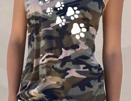 Maiou damă Ruby GHT-DDW casual cu imprimeu camuflaj verde militar