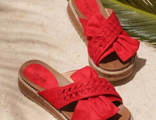 Papuci Emmy BGJQ Happiness de damă roșii de stradă cu toc plat