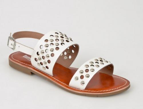 Sandale de damă Image GHJW Selah casual cu talpă plată, din piele naturală