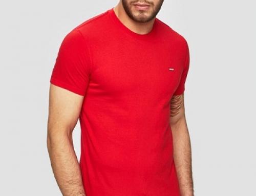 Tricou bărbați Levi's NKU Emrys roșu din bumbac cu decolteu rotund