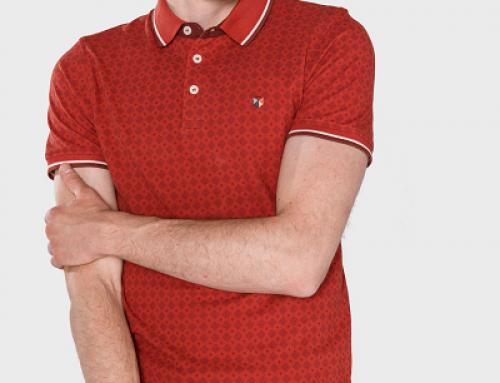 Tricou Polo Jack & Jones Paulos din bumbac pentru bărbați, cărămiziu