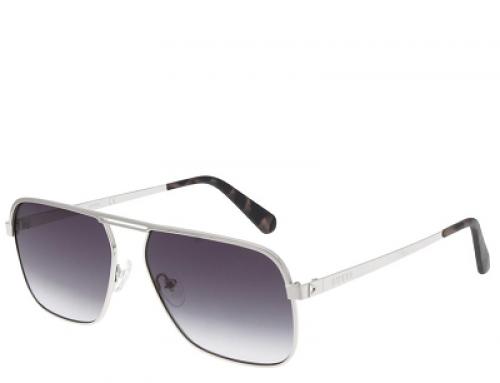 Ochelari de soare polarizați Guess GS693910B58 bărbați, lentile gri, ramă rectangulară