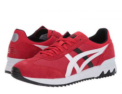 Pantofi sport bărbați ASICS California HY52VQ roșii cu piele întoarsă