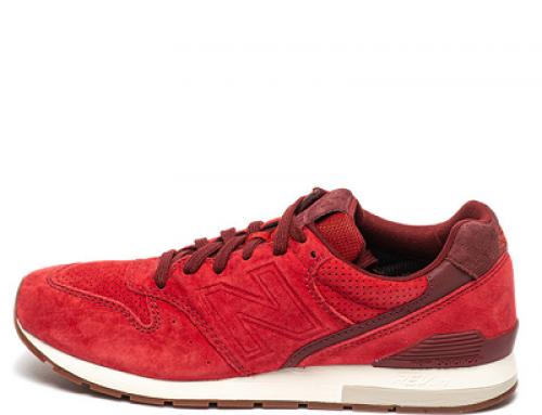 Pantofi sport New Balance GNQL Brent pentru bărbați, din piele întoarsă, roșii