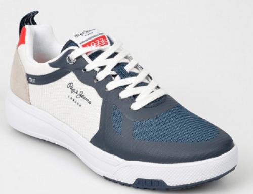 Pantofi sport bărbați Pepe Jeans F71GBW Conner, bleumarin, cu talpă rezistentă