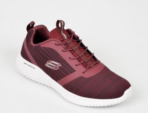 Pantofi sport bărbați SKECHERS U-N67DWQ vișinii din material textil
