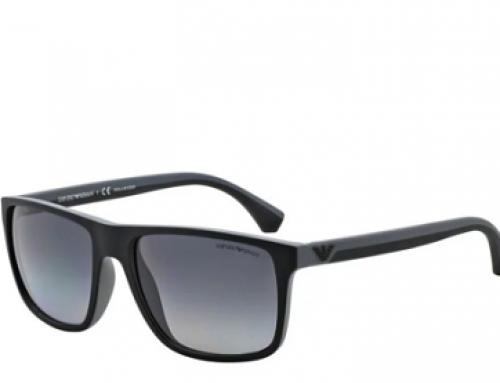Ochelari de soare polarizați bărbați Emporio Armani EA4033 5229T3, ramă pătrată