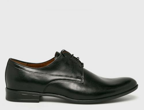 Pantofi eleganți Conhpol D-K57DQ Edgar pentru bărbați, din piele naturală, negri