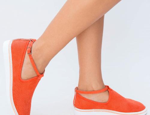 Pantofi Lizette GQ84MY Biston de damă casual cu talpă plată, Corai