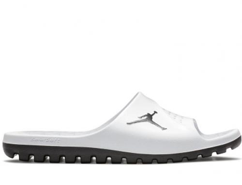 Papuci de plajă Nike Jordan Super Fly TM KM64JWQ pentru bărbați, albi cu talpă moale