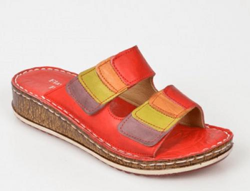 Papuci Flavia Passini H64J Erin de damă de stradă din piele naturală, roșii