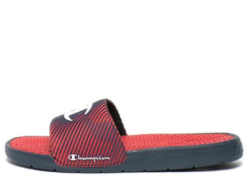 Șlapi de plajă bărbați Champion HJ82VQ Gaten cu talpă plată, roșu