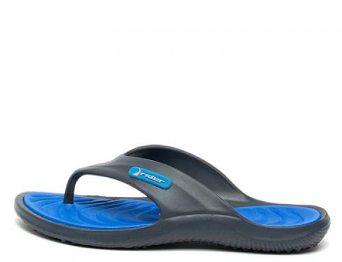 Papuci de plajă bărbați Rider H-F74VW Roger flip-flop cu talpă plată, bleumarin