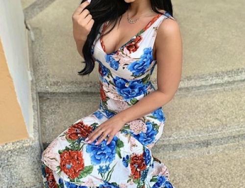 Rochie lungă Shantel GQ11MY vaporoasă cu imprimeu floral, fără mâneci