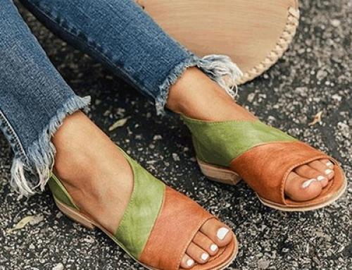 Sandale de damă Chloe W-K52LQ casual cu toc plat și talpă joasă, verzi