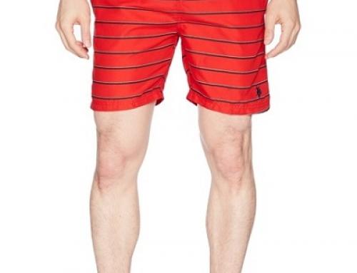 Șort de baie bărbați U.S. POLO ASSN J-M52L Joe roșu cu imprimeu în dungi
