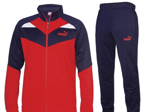 Trening bărbați Puma NHQ Martin Iconic roșu stil Sportswear, cu guler înalt