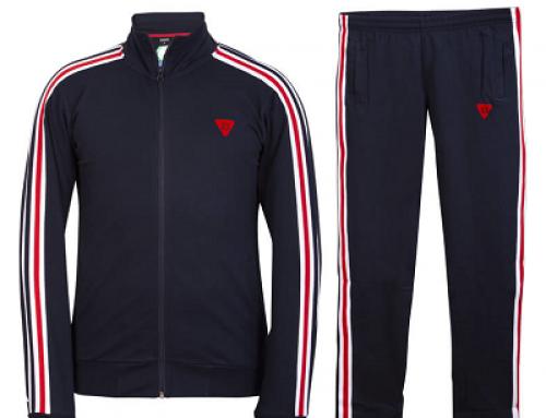 Trening Essense ES1012 Camilo pentru bărbați, albastru din bumbac, Sportswear