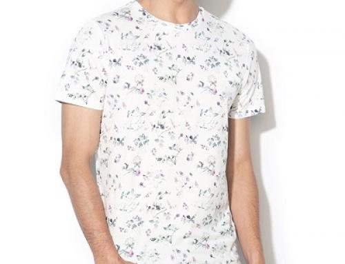 Tricou Selected Homme J-N6Q Carter pentru bărbați, cu imprimeu floral din bumbac
