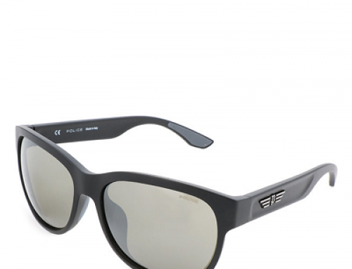 Ochelari de soare Police J-N58LQ bărbați polarizați, lentile gri, ramă wayfarer