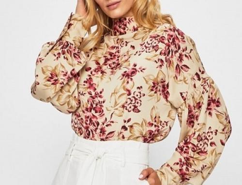 Bluză Y-M525PQ Glamorous de damă cu imprimeu floral și croială lejeră