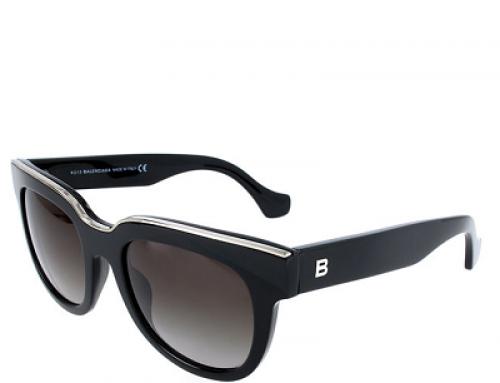 Ochelari de soare damă Balenciaga W-L25MQ polarizați, wayfarer, lentile gri