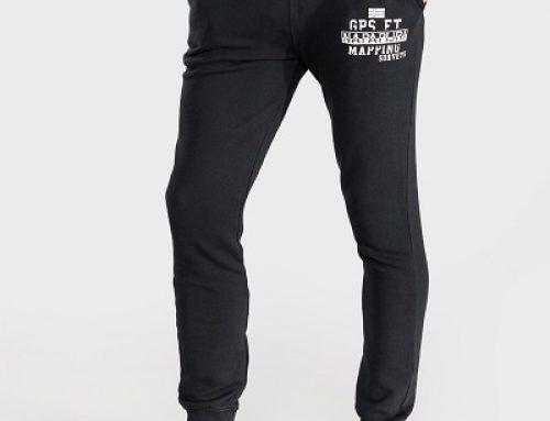 Pantaloni sport bărbați Napapijri J-M25Q Konnor din bumbac, negri
