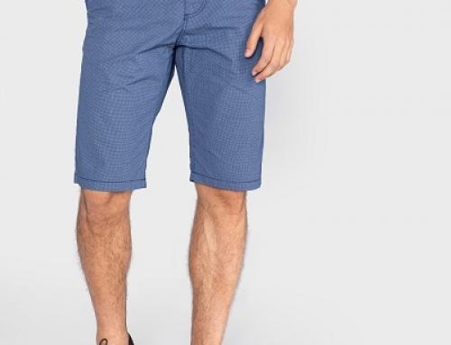 Pantaloni scurți bărbați H-M55WJ Tom Tailor drepți din pânză, bleumarin