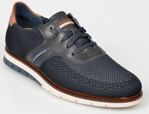 Pantofi Salamander Y-L25Q Darrell casual bărbați, bleumarin, cu talpă plată