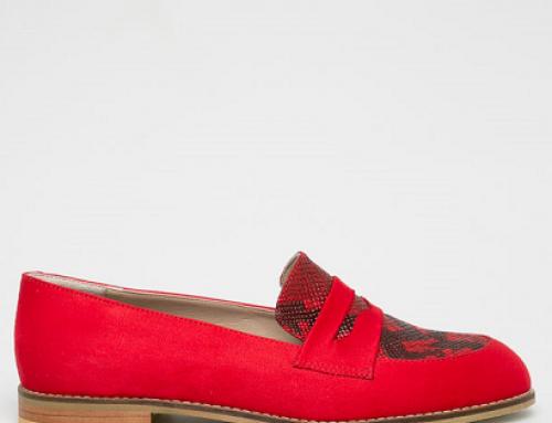 Pantofi damă Answear J-B58WQ Cortez roșii cu toc plat și talpă joasă