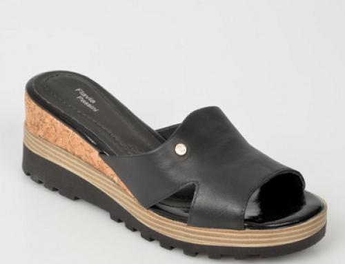 Papuci de damă Flavia Passini J-M58LW Lexie din piele naturală, cu platformă