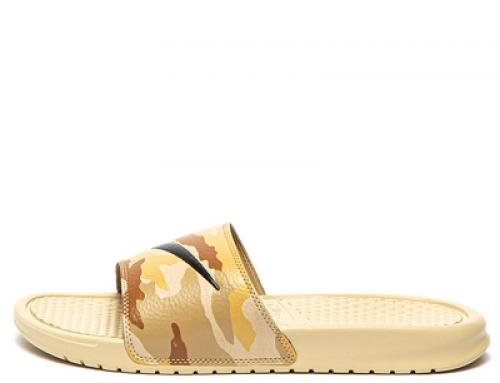 Papuci Nike J-D25LV Benassi JDI bărbați de plajă cu imprimeu camuflaj