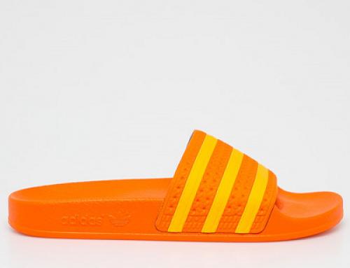 Papuci de plajă de damă Adidas Originals Y-NJ58CQ portocalii cu talpă plată