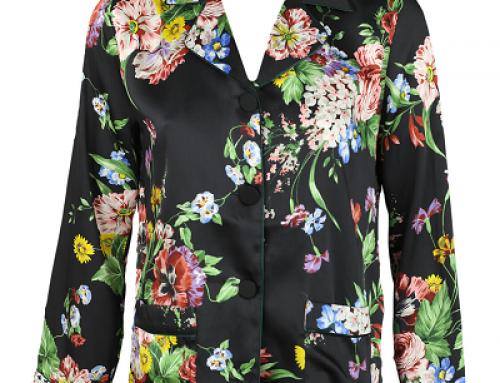 Cămașă Zara W-J56MQ Lilith de damă casual cu imprimeu floral, neagră