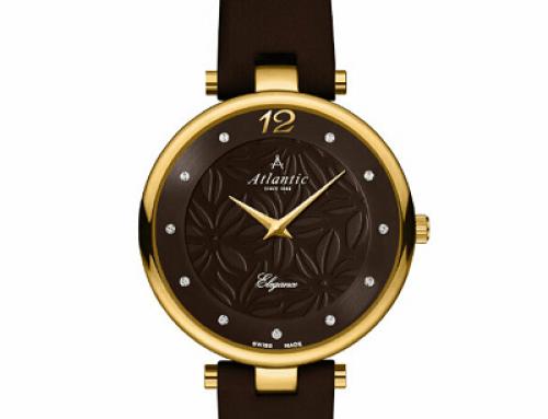 Ceas de damă Atlantic Elegance Floral 29037.45.81L, 3ATM, brățară din piele