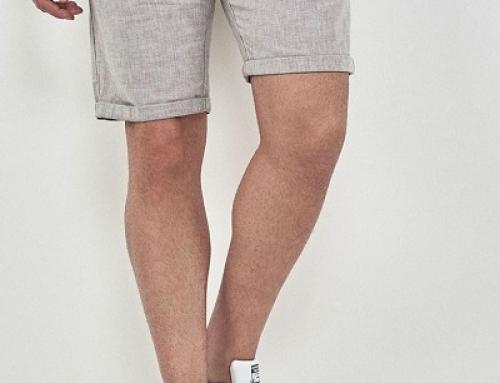 Pantaloni scurți W-K52LQ Next Wyatt bărbați din din și bumbac, herringbone, gri