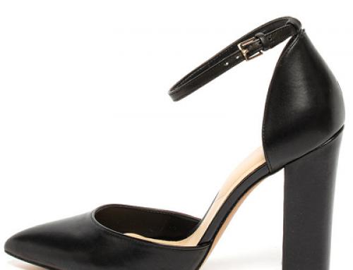 Pantofi damă eleganți Aldo H-W8K Lyric din piele cu toc gros și vârf ascuțit, negri