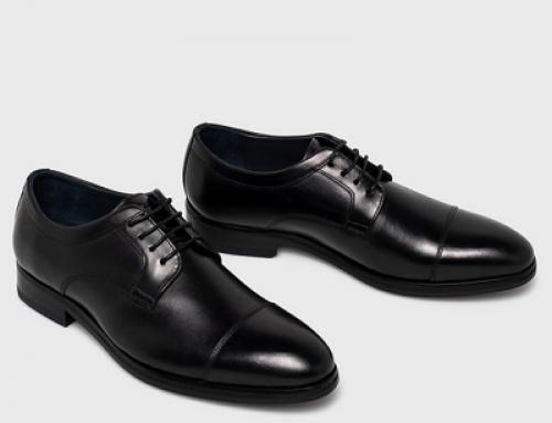Pantofi eleganți V-L85SWQ Joop pentru bărbați, negri, din piele naturală